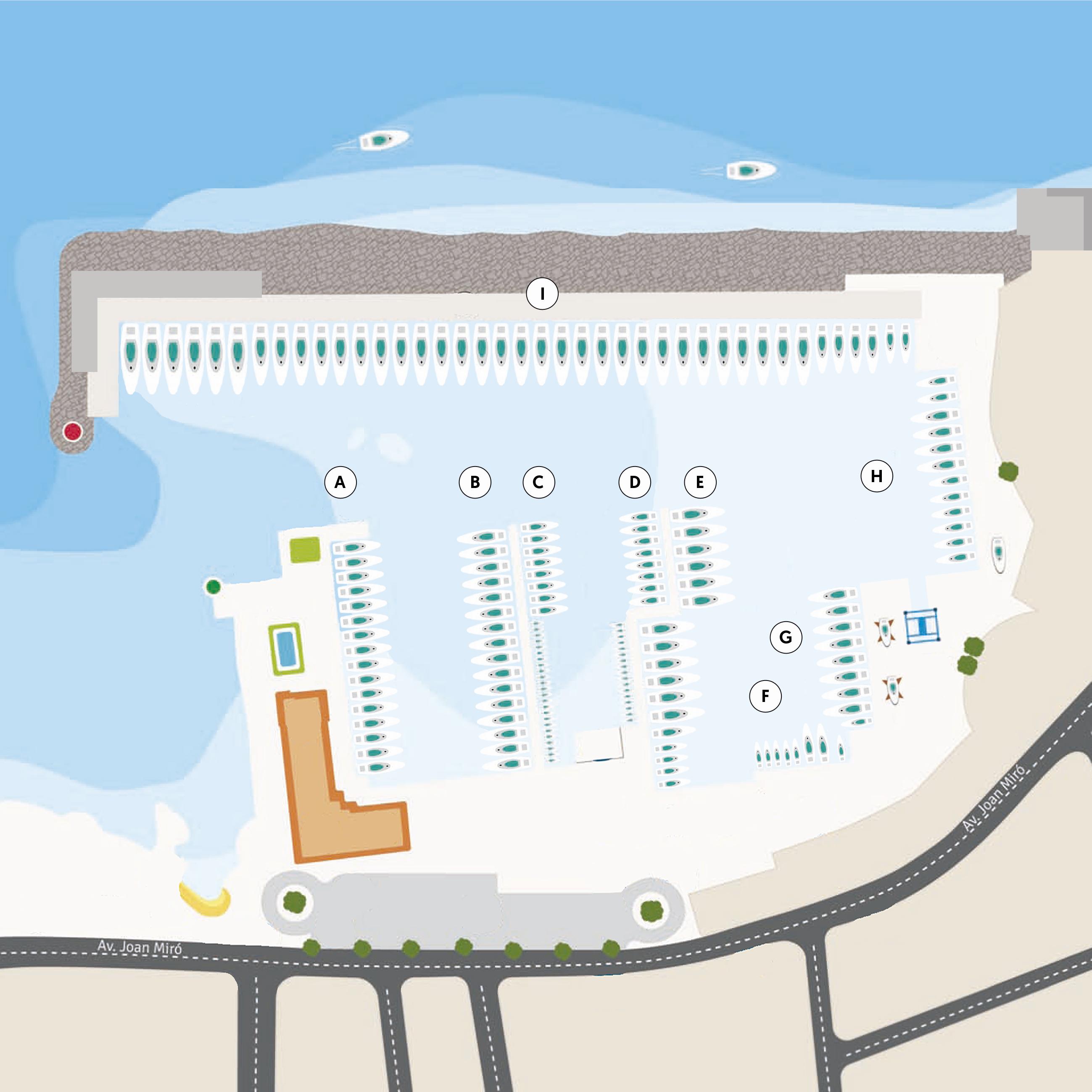 Plano de Servicios del Puerto
