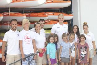 Marcus Cooper Walz visita Port Calanova con el equipo de IB3 Televisió